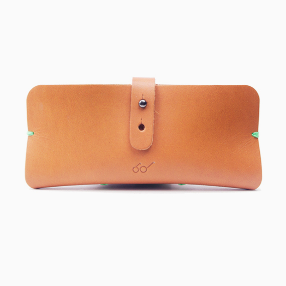SAGAWAFUJII Genuine Leather Pouch for Glasses (camel)