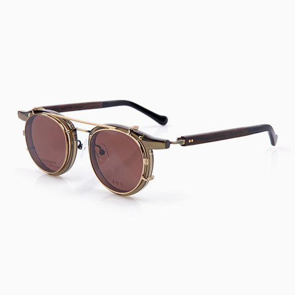 NOBU 104 & Clip-On gold brown