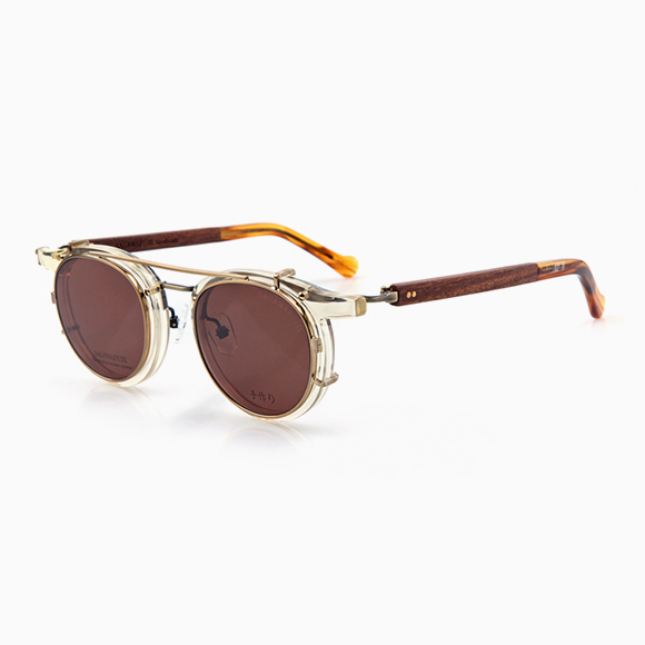 NOBU t02 & Clip-On gold brown