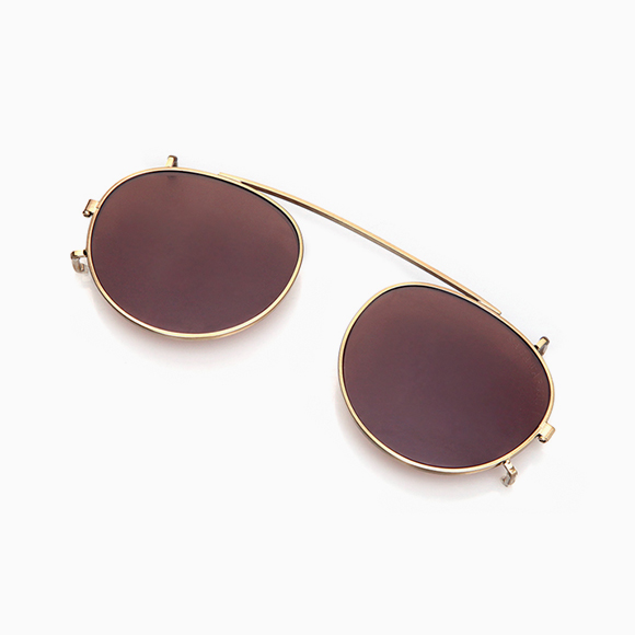NOBU/YOSHI Clip-On gold brown