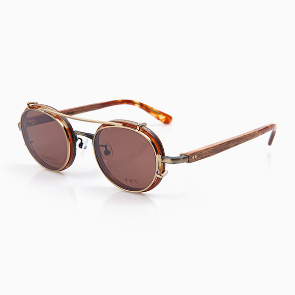 YOSHI 177 & Clip-On gold brown